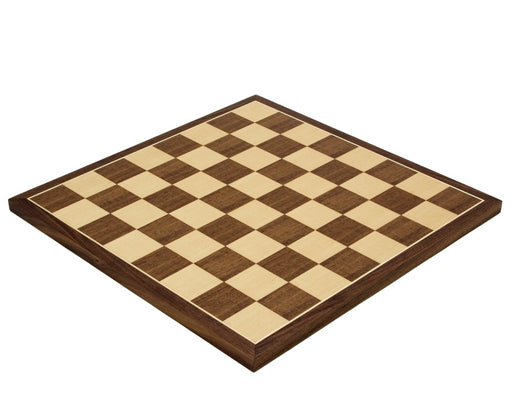 "14"" Walnut and Maple Chess Board - Official Staunton™"