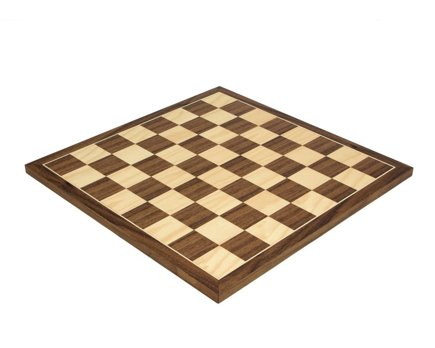 "17.75"" Walnut Chess Board - Official Staunton™"