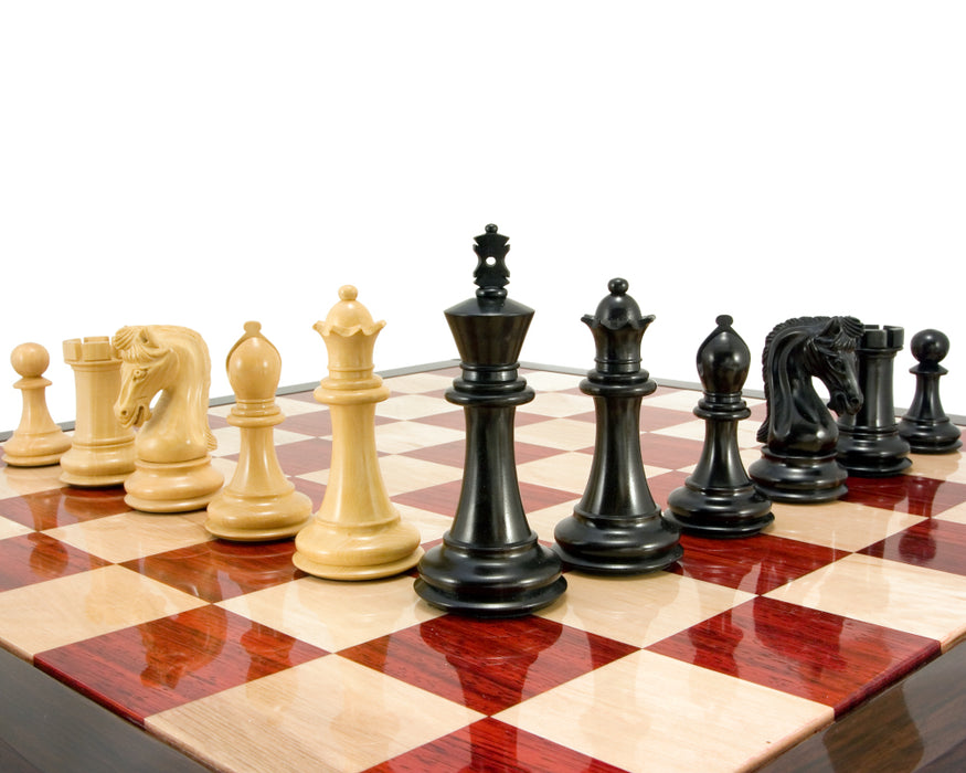 Canterbury Ebony & Boxwood Luxury Chess Pieces - Official Staunton™