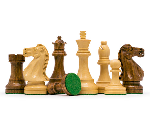 "3.75"" Broadbased Rosewood Chess Pieces - Official Staunton™"