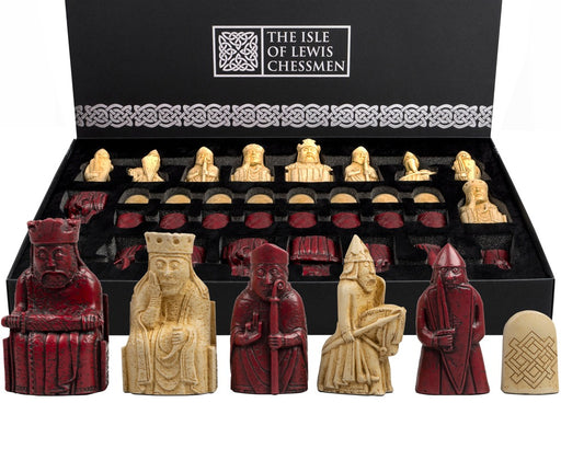Lewis Ivory & Mahogany Chess Pieces in Presentation Gift Box - Official Staunton™