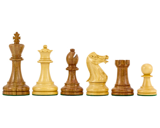 "3.75"" Executive Acacia and Boxwood Chess Pieces - Official Staunton™"