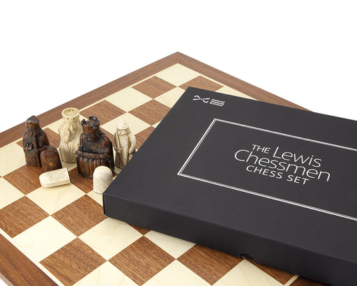 Lewis Teak & Mahogany Presentation Chess Set - Official Staunton™