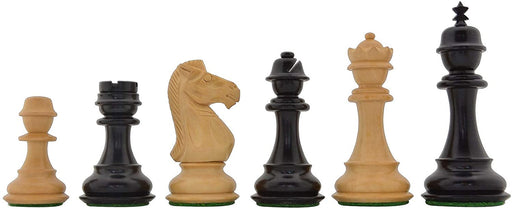 "3.5"" Squadron Ebonised Boxwood Chess Pieces - Official Staunton™"