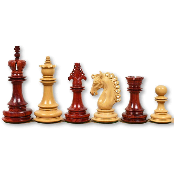 Artisans Rosewood Bud and Boxwood Art Chess Pieces - Official Staunton™