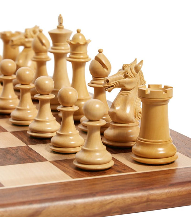 Aviator Ebony & Boxwood Hand Carved Chess Pieces - Official Staunton™