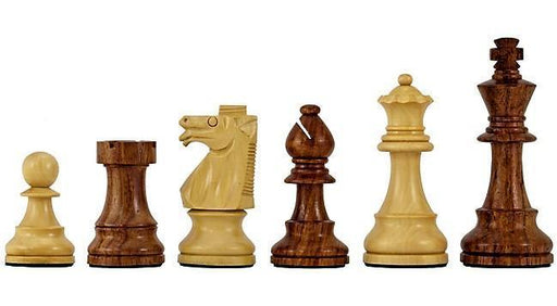 "3.75 "" British Staunton Acacia & Boxwood Chess Pieces - Official Staunton™"