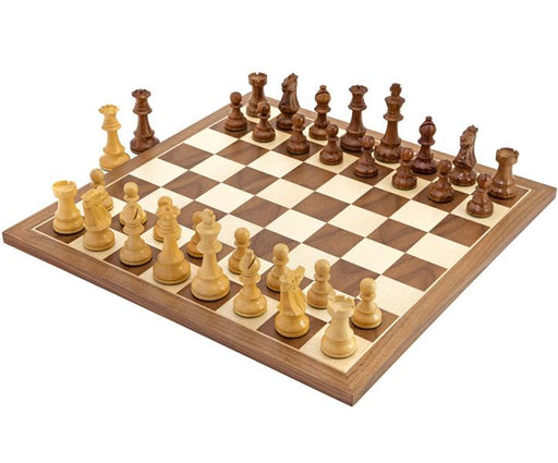 British Acacia Walnut Chess Set - Official Staunton™