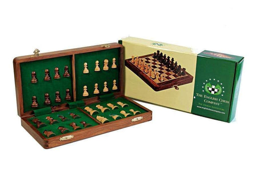 "14"" Wooden Magnetic Folding Chess Set - Official Staunton™ Chess Company"