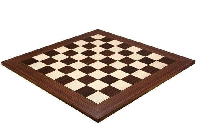 23 Inch Deluxe Montgoy Palisander Chess Board - Official Staunton™