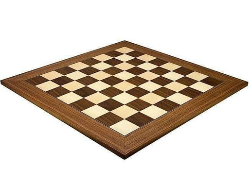 Chess Set - 23 Inch Walnut & Maple Deluxe Chess Board