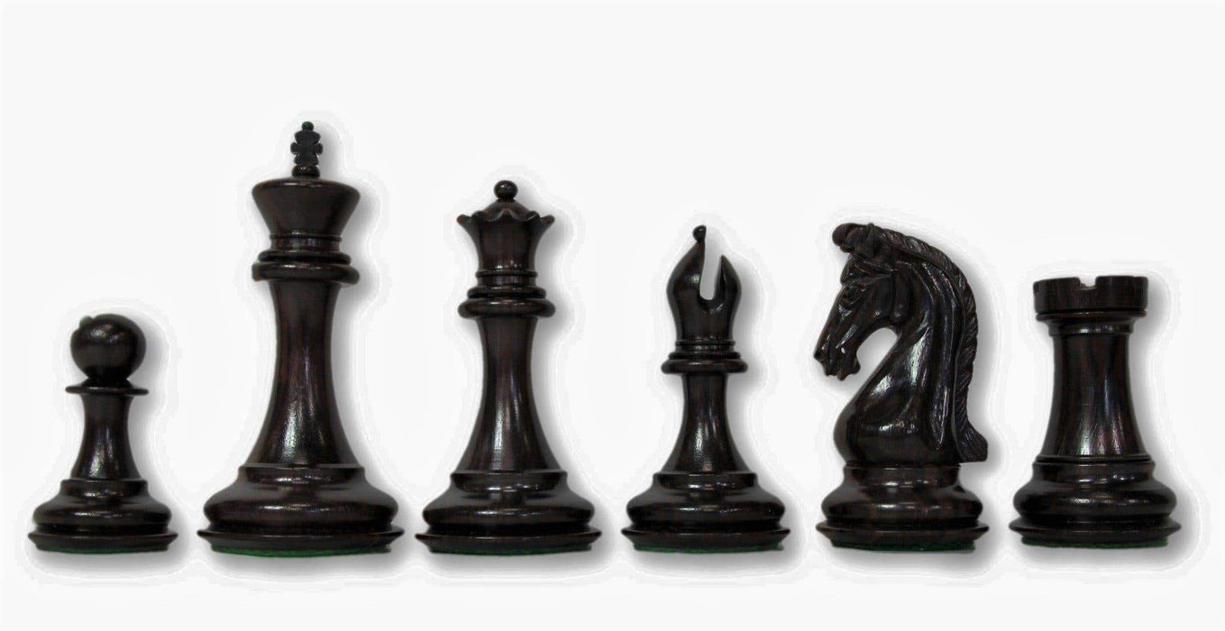 4.5 Inch Imperial Profilex Ebony & Boxwood Chess Pieces - Official Staunton™