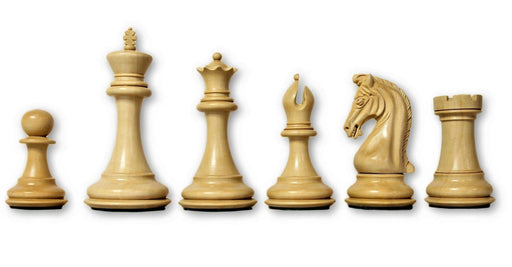 4.5 Inch Imperial Profilex Rosewood & Boxwood Chess Pieces - Official Staunton™