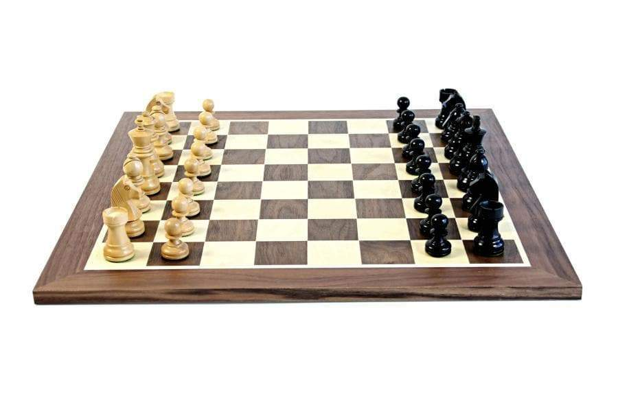 "15.75"" Walnut Black Classic Wooden Chess Set & Box - Official Staunton™"