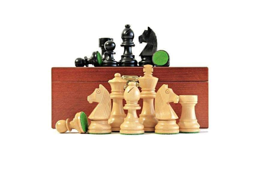 "17.75"" Walnut Black Classic Wooden Chess Set & Box - Official Staunton™"