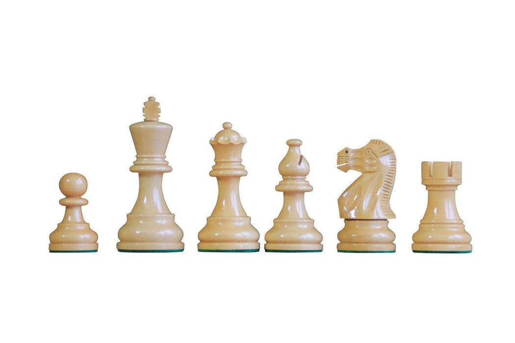 Atlantic Black Gloss & Natural Makassar Chess Set - Chess Set