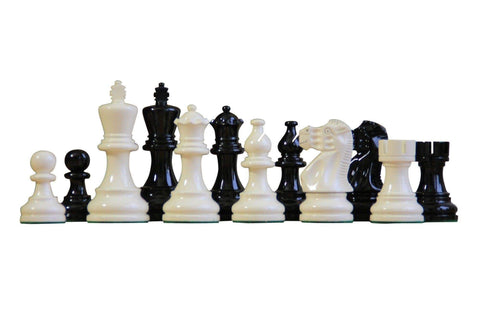 Atlantic Series Black & Cream Chess Pieces