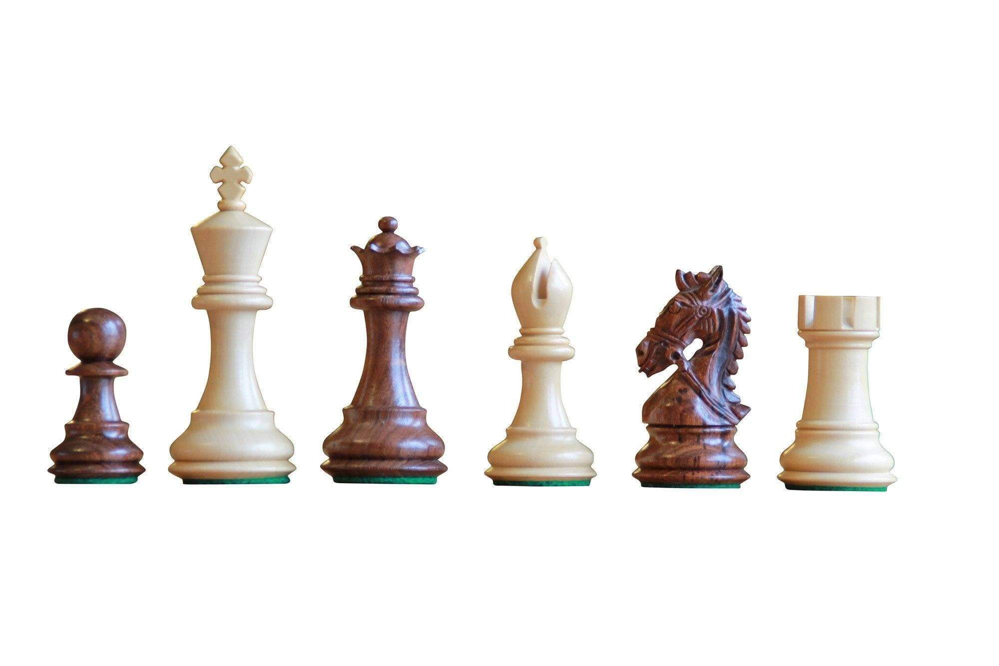 Chess Set - Bridled Knight Sheesham Chessmen