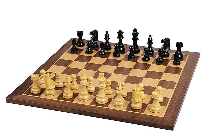 British Black & Walnut Chess Set - Official Staunton™