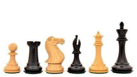 "4 ""Ultimate Staunton Ebony Chess Set & Presentation Case - Official Staunton™"