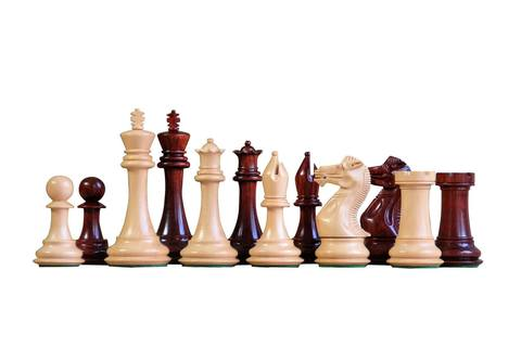 Championship Salvador Redwood Chess Pieces - Official Staunton™