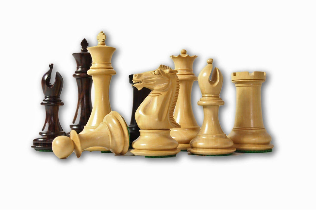 "4.4"" Old Collectors Series Rosewood & Boxwood Chess Pieces - Official Staunton™"