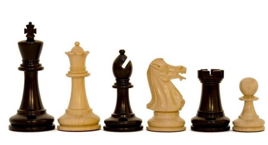 Chess Set - Executive Staunton Boxwood & Ebonised Chess Pieces