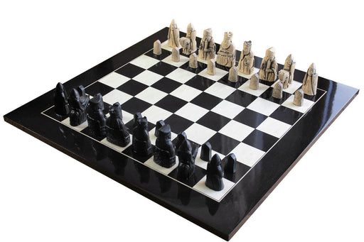 Isle of Lewis Luxury Anegre High Gloss Chess Set - Chess Set