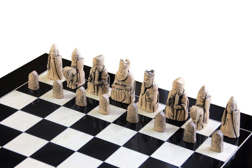 Isle of Lewis Luxury Anegre High Gloss Chess Set - Official Staunton™