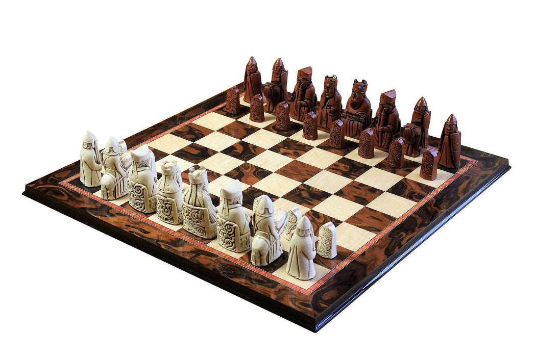 Isle of Lewis Luxury Walnut Chess Set - Official Staunton™