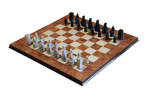 Isle of Lewis Mini Chessmen & Olmo Chessboard - Official Staunton™