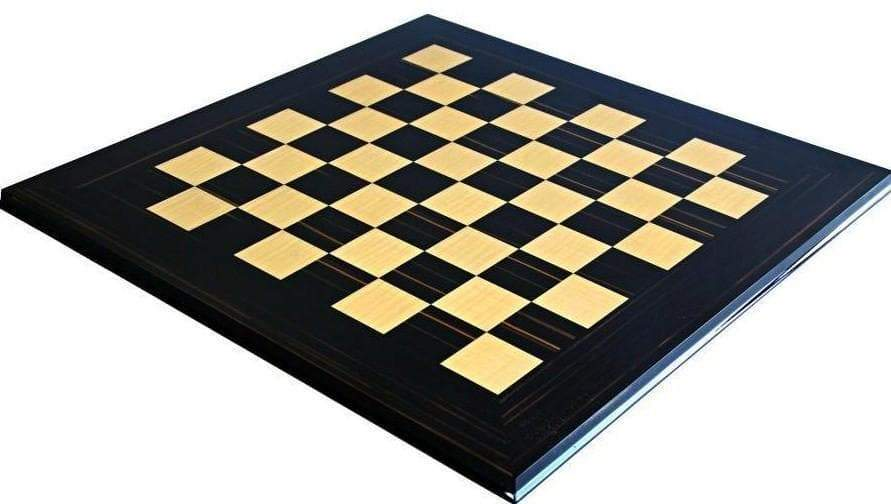 "22"" Italian Makassar Ebony & Maple Chessboard - Official Staunton™"