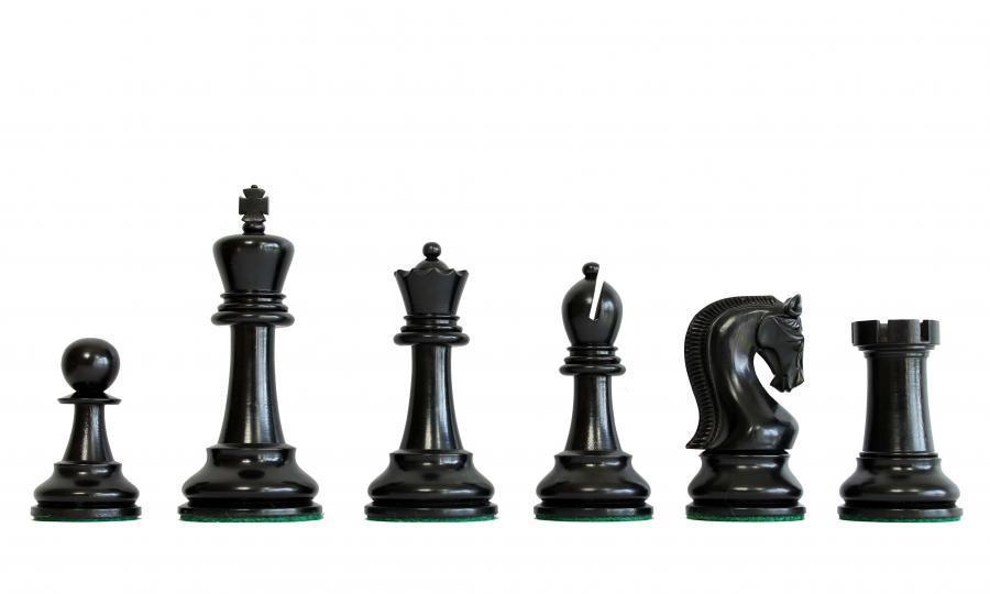 3.75 Inch Leningrad Boxwood & Black Chess Pieces - Official Staunton™