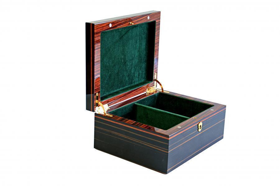 Italian Luxury Makassar Chess Box - Official Staunton™ Chess Company