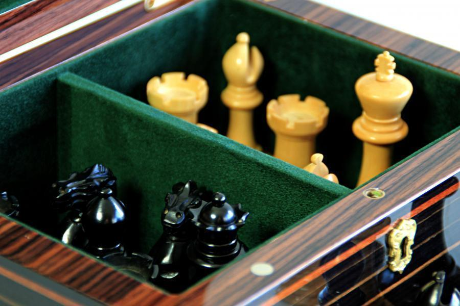 Italian Luxury Makassar Chess Box - Official Staunton™
