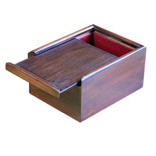 Solid Wooden Slide Lid Box - Chess Set