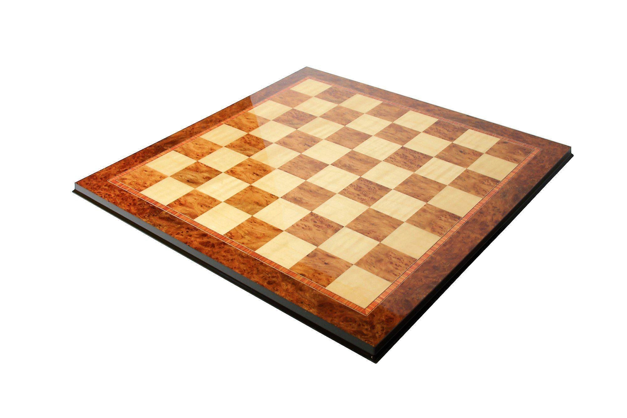 Olmo & Maple Prestige Italian Chess Board - Official Staunton™ Chess Company