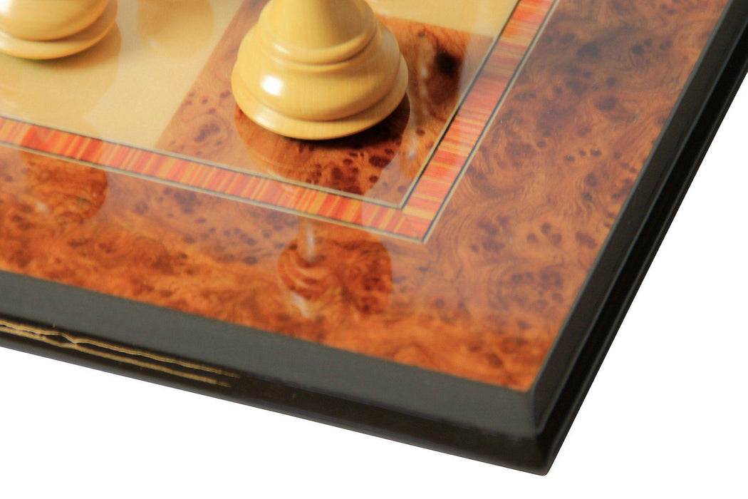Elm & Maple Prestige Italian Chess Board - Official Staunton™