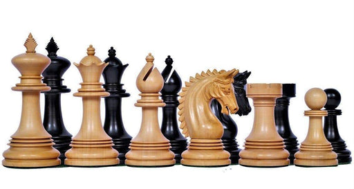 4.00 Inch Prestige Friesian Ebony Chess Pieces - Official Staunton™