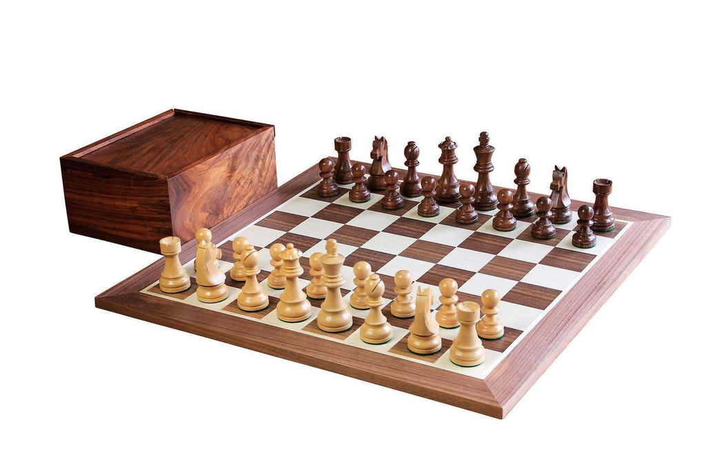 A Tournament Classic Acacia & Walnut Chess Set - Official Staunton™