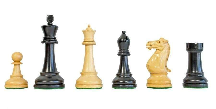 Chess Set - Winchester Boxwood & Black Chessmen