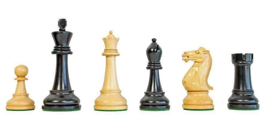 Black Winchester Anegre Chess Set Combination - Chess Set