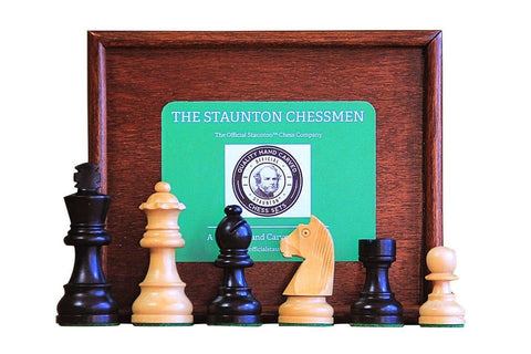 Club Classic Chessmen & Slide Lid Box