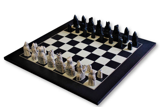 Isle Of Lewis Black & Anegre Matt Chess Board - Official Staunton™