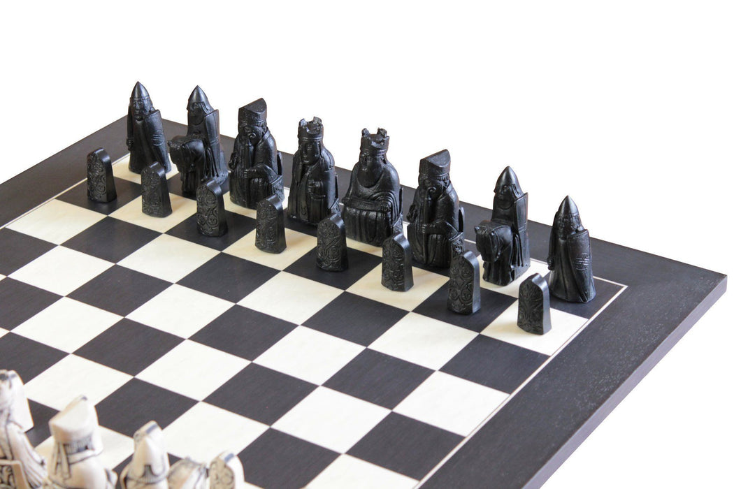 Isle Of Lewis Black & Anegre Matt Chess Board - Official Staunton™ Chess Company