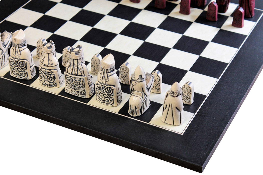 Isle Of Lewis Mahogany &  Anegre Matt Chess Board - Official Staunton™ Chess Company