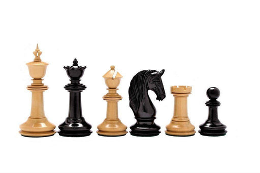 J.H. Blackburne Boxwood & Ebony Chessmen - Official Staunton™ Chess Company