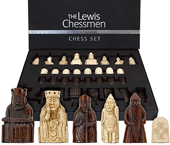 National Museum Scotland Original Isle of Lewis Chess Set in Presentation Case - Official Staunton™