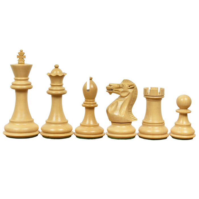"3.9"" Peruvian Ebony Chess Pieces - Official Staunton™"