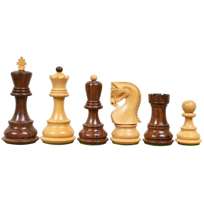 "3.9"" Zagreb Russian Sheesham Chess Pieces - Official Staunton™"
